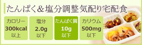たんぱく・塩分制限食