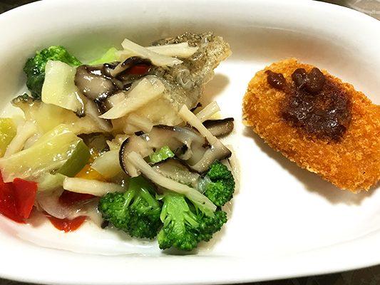 彩ダイニング「たらの唐揚げ野菜あんかけ・じゃがいもコロッケ」の実食レビュー