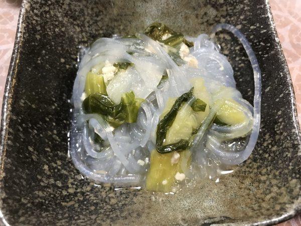 青梗菜の春雨サラダ