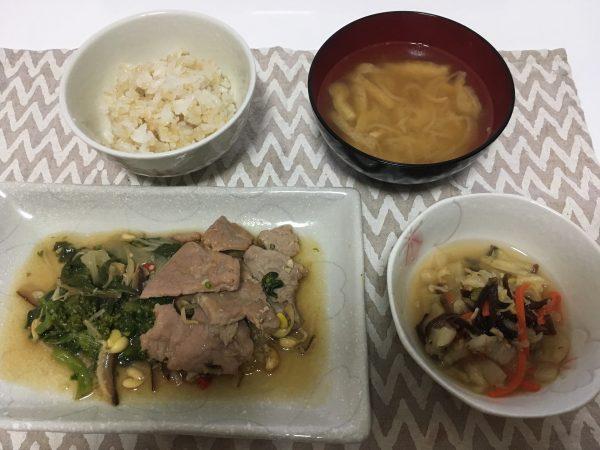美健倶楽部 豚肉と野菜の五目炒め 解凍後