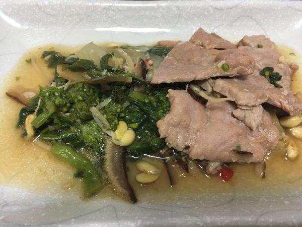 美健倶楽部 主菜:豚肉と野菜の五目炒め