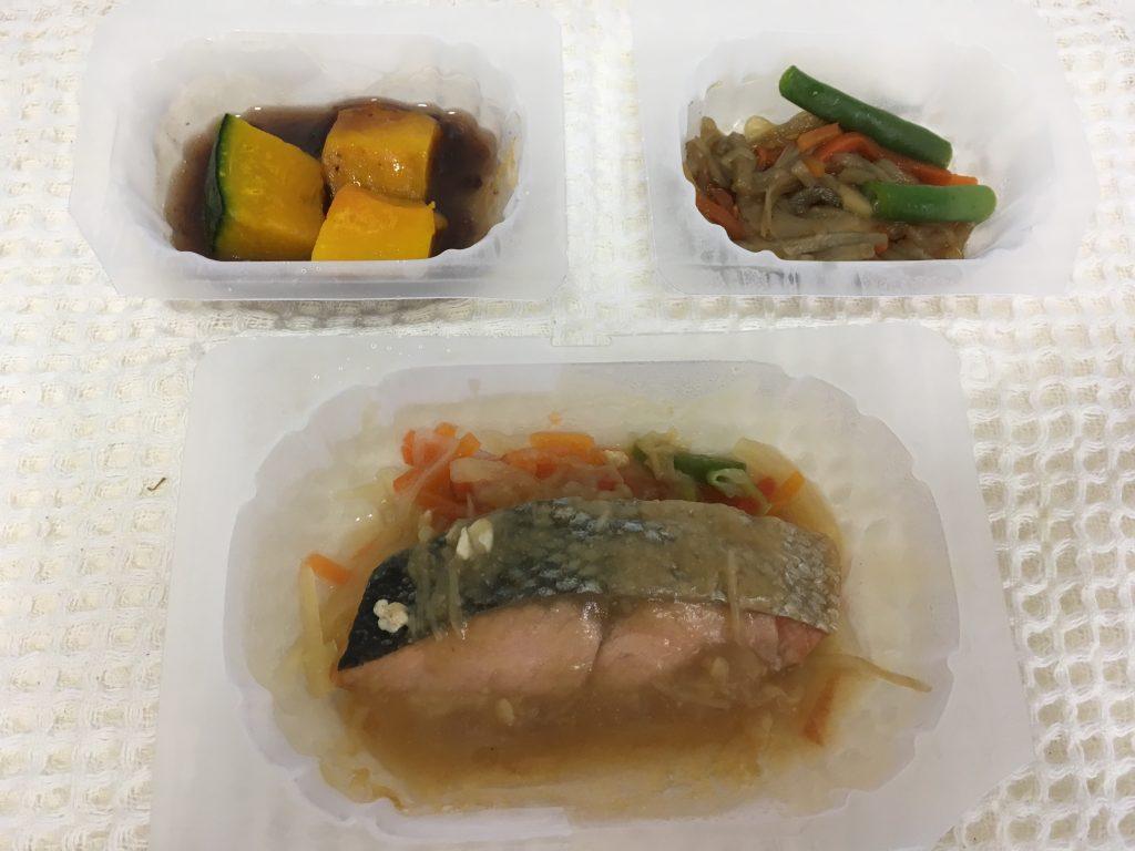 おまかせ健康三彩 鮭のちゃんちゃん焼き(容器のまま)