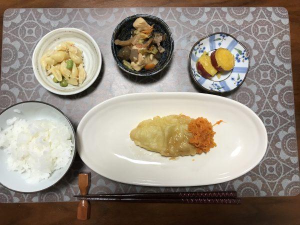 白身魚の天ぷら弁当中身