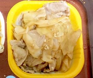 豚肉とキャベツの炒め