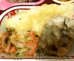 食卓便の魚介天ぷらと野菜のかき揚げ