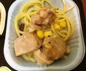 食卓便の鶏肉の黒胡椒ソース